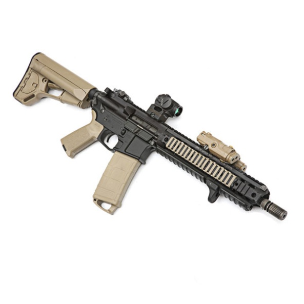 MAGPUL-ACS-Carbine-Stock-Commercial-Spec-Flat-Dark-Earth-MAG371-FDE-Attached-to-Weapon-Pic1